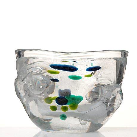 "Bengt edenfalk, a ""thalatta"" glass vase, skruf, sweden 1960's."