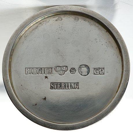 Atelier borgila, a sterling silver cocktail shaker, stockholm 1953.