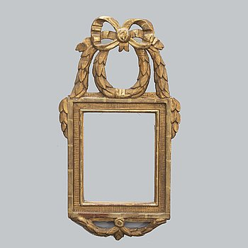 A Swedish late Gustavian gilded mirror frame around 1800.