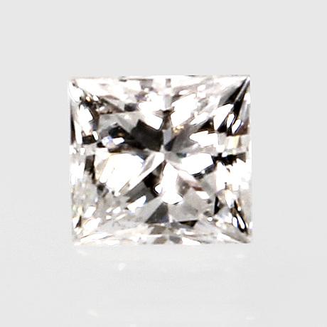 Stone not mounted, princess-cut diamond approx 0,30 ct tw/vs.