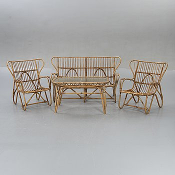 Garden furniture, a set of four, 1950s-60s.