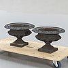 Garden urns, 2 pcs, first half of the 20th century, cast iron.