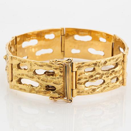 Alf halldin, 18k gold bracelet.