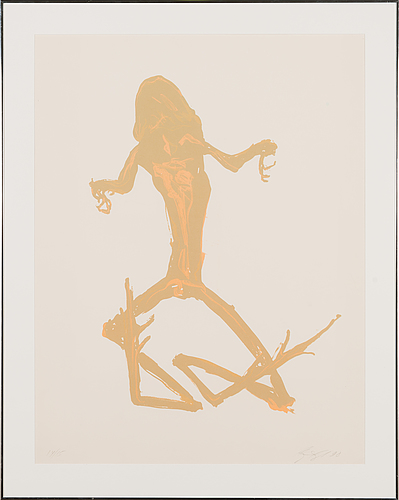Marjatta tapiola, lithograph, signed and dated -90, numbered 14/15.