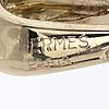 Hermès, 18k gold and white gold, pendant.