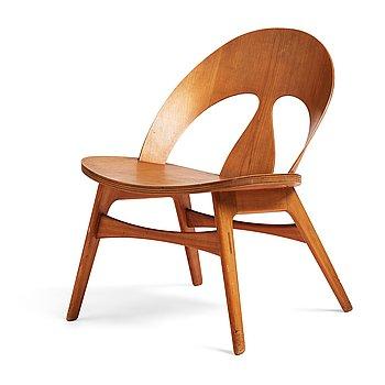 407. Børge Mogensen, a cherry chair, executed by cabinetmaker  Erhard Rasmussen, Denmark ca 1949.
