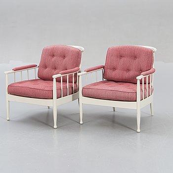 "Kerstin Hörlin-Holmquist, armchairs, a pair, ""Skrindan"", OPE furniture, second half of the 20th century."