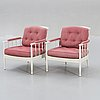 "Kerstin hörlin-holmquist, armchairs, a pair, ""skrindan"", ope furniture, second half of the 20th century."