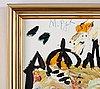 Madeleine pyk, oil on canvas/panel, signed.