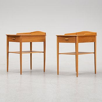A pair of bed side tables from the second half of 20th century. AB Erik Andersson & Co., Rottne.