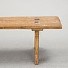 A painted pine bench, 19th century.