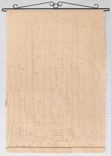 Pirkko koskinen, a finnish long pile rug for ryijykutomo koskinen alajärvi. circa 155x105 cm.