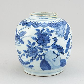 A blue and white jar, Ming dynasty, Wanli (1572-1620).