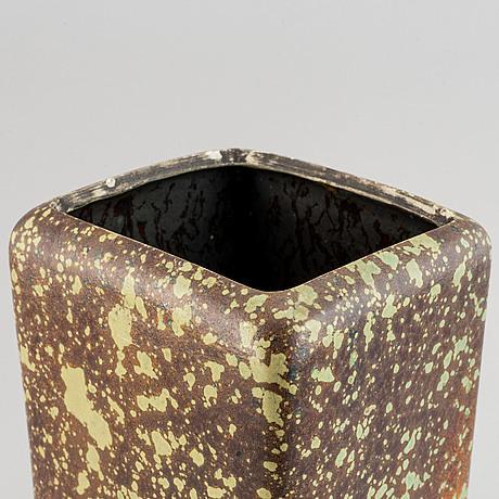 A hans hedberg faience vase, biot, france.