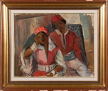Atte Laitila, oil on canvas, signed.