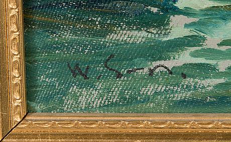 Wille salonen, olja på duk, signerad.