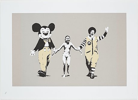 "Banksy, ""napalm""."