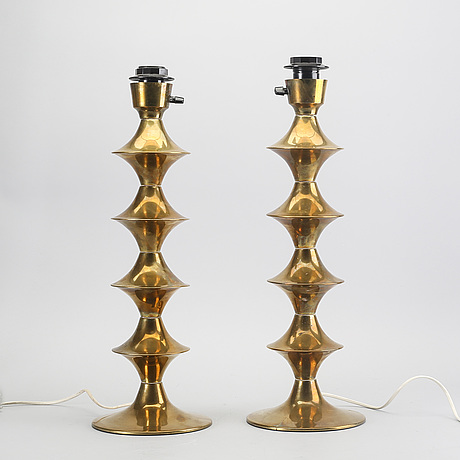 Table lamps, a pair, elit ab, 1970s.