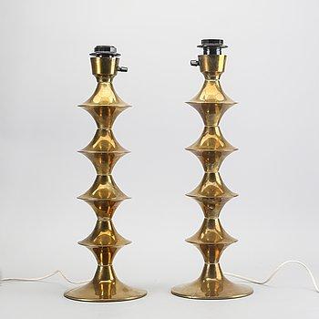 Table lamps, a pair, Elit AB, 1970s.