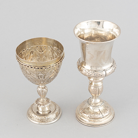 Two 19th century silver cups.