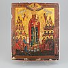 A 19th century russian icon depicting the heavenly madonna.