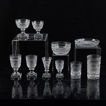 A glass service, 'Kent', 147 pcs, from Kosta Boda.
