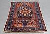 A carpet, semi-antique west persian, ca 202 x 108 cm.
