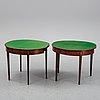 Spelbord, ett par, george iii,  england 1800-talets första hälft.