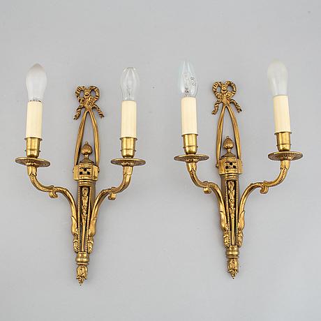 Lampetter, ett par, louis xvi-stil, 1900-tal.
