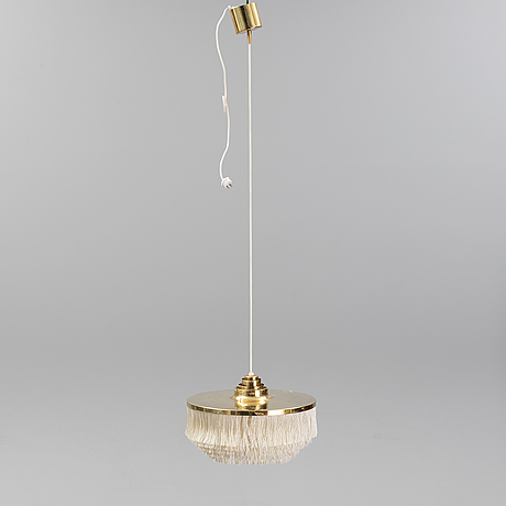A brass ceiling lamp with fringe by hans-agne jacobsson for markaryd.