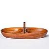 Carl auböck, a mahogany nut bowl and a  nutcracker, carl auböck workshops, vienna austria, probably 1950's.