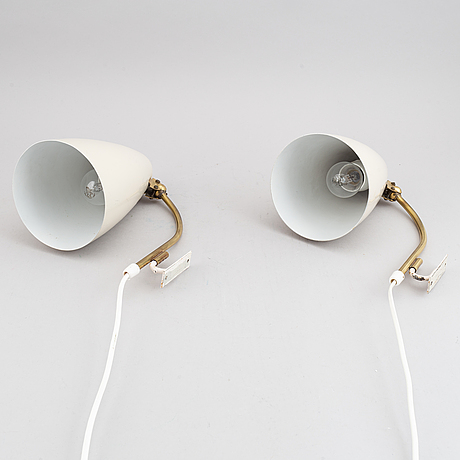 A pair of wall lights, model ah 43, produced by itsu, 1950-60s.