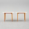 A pair of 'ovalen' side tables by carl malmsten, end of the 20th century.