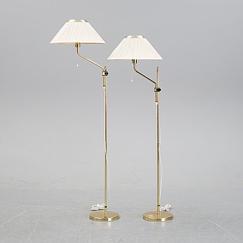 A pair of brass floor lights from Aneta, end of the 20th Century.