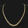 Necklace, graduated, 18k gold, 21 g, approx 43 cm.