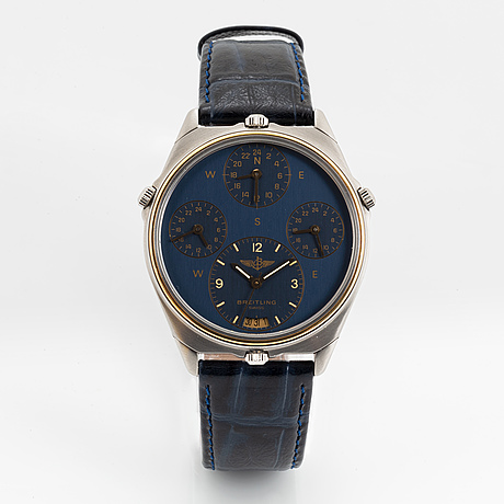 Breitling, world, wristwatch, 39 mm.