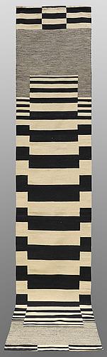 A runner, flat weave, ca 283 x 87 cm.