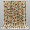 A carpet, kilim, ca 357 x 256 cm.