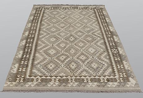 A carpet, kilim, ca 247 x 160 cm.