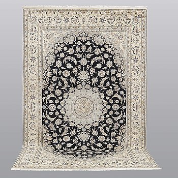 A carpet, Nain part silk s.k 9LAA , 307 x 195 cm.