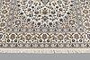 A carpet, nain part silk s.k 6 laa, 238 x 148 cm.