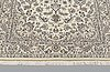 A rug, nain part silk so called 9laa, ca 210 x 130 cm.