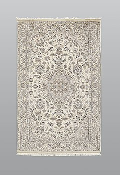 A rug, Nain part silk so called 9LAA, ca 210 x 130 cm.
