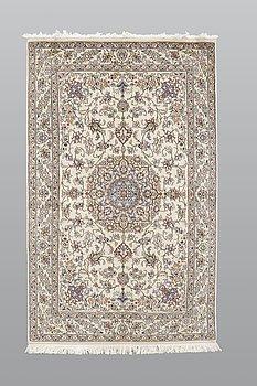 A rug, Nain part silk s.k 9LAA, ca 225 x 135 cm.