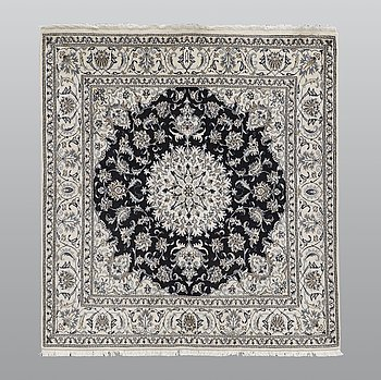 A rug, Nain part silk, ca 208 x 195 cm.