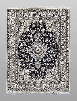 Matto, Nain part silk, ca 203 x 148 cm.