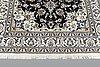A rug, nain part silk, ca 203 x 148 cm.