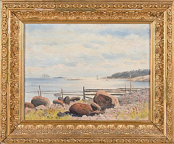 Thorsten Waenerberg, oil on panel, signed and dated 1893.
