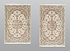 A pair of kashan rugs, ca 151 x 96 and 144 x 96 cm.