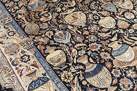 A carpet, figural kashmar, ca 246 x 290 cm.